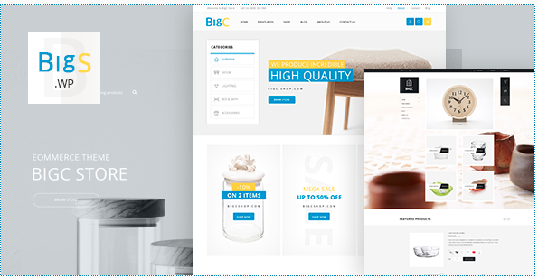 Big Shop V3.1 Furniture RTL Responsive Woocomerce WordPress Theme